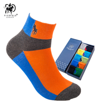 PIER POLO High Quality Casual Mens Business Socks For Men Cotton Brand Crew Autumn ankel meias homens 5 Pairs Big Size