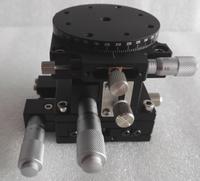 Xzr axe Table coulissante optique coupe étage linéaire manuel déplacement station de croix Guide Roller XZR60L 60 * 60 mm