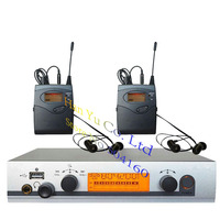 2 Receivers Wireless in ear Monitor System with USB Personal in ear monitor System Stage ear Monitors dj equipments 40 channels