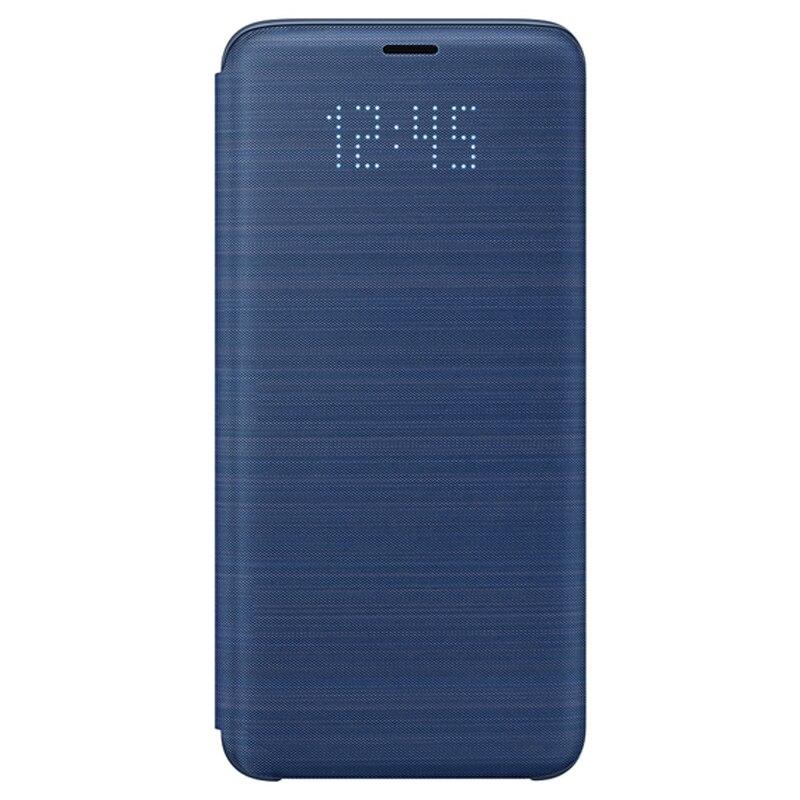 Image 5 - Housse de Protection dorigine Samsung LED housse de Protection pour SAMSUNG Galaxy S9 G9600 S9 + Plus G9650 poche de carte de fonction de sommeilÉtuis à rabat   -