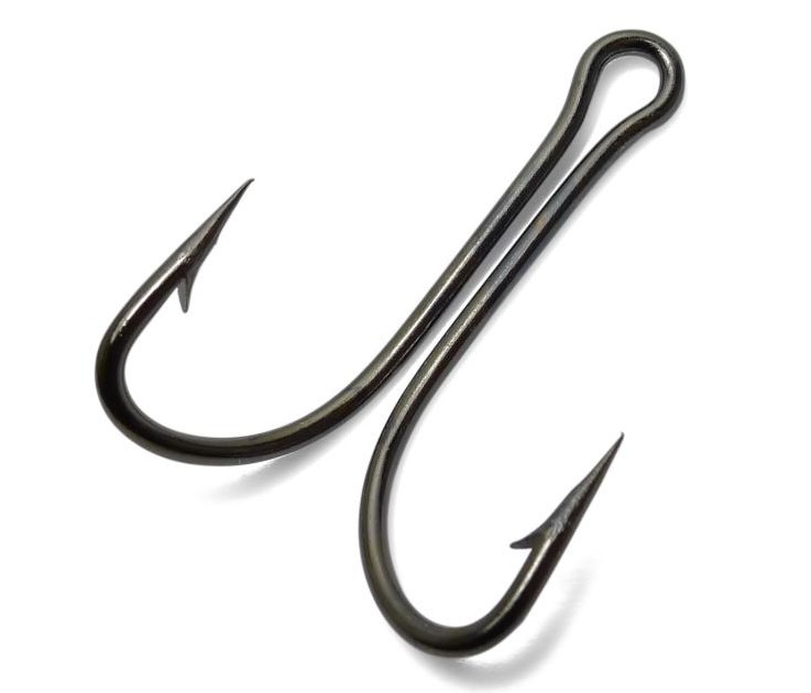 50pcs 9908 high carbon steel double fishing hooks small for Micro fishing hooks
