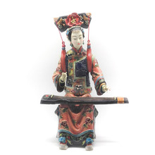 hot deal buy collectible home sculpture arts classic ceramic figurines decorative porcelain angel dolls pottery statues chinese culture