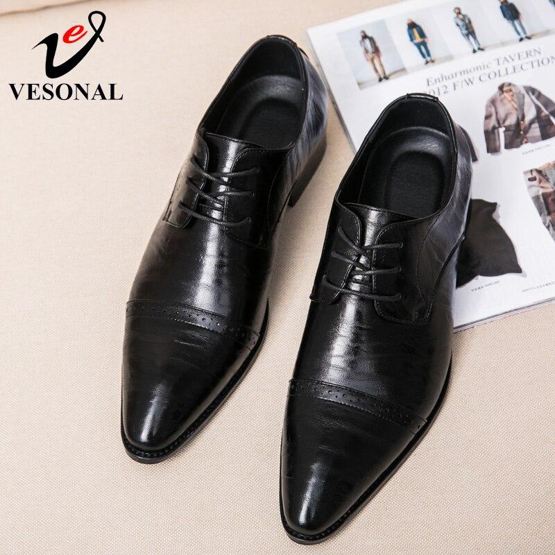 Qualité Marque Chaussures Adulte Richelieu Shoes D'affaires Casual Vintage 2018 Automne Hommes Mode Pour Vesonal De Black Mâle Robe SqxAgUq