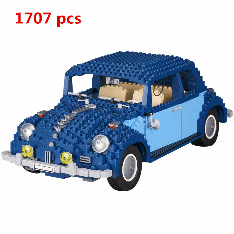 2018 Lepin Creator 21014 Classic Beetle Alloy Diecast Car Toy et Model Building Blocks Bricks educational toys For Children a toy a dream lepin 15008 2462pcs city street creator green grocer model building kits blocks bricks compatible 10185