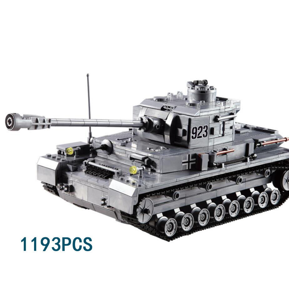 Modern military world war germany Panzerkampfwagen IV tank building block ww2 army force figures bricks assemble toys for boys city block mini military modern war recon support engineer navy swat police figures building block bricks toys for children