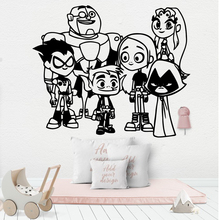 Cute cartoon Vinyl Decals Wall Stickers Living Room Bedroom Nordic Style Home Decoration