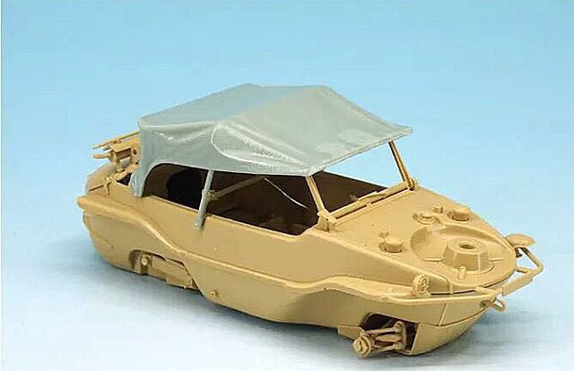 1/35 Modified Parts Resin Canvas For WWII Germany Schwimmwagen166 Scout Car 1pc