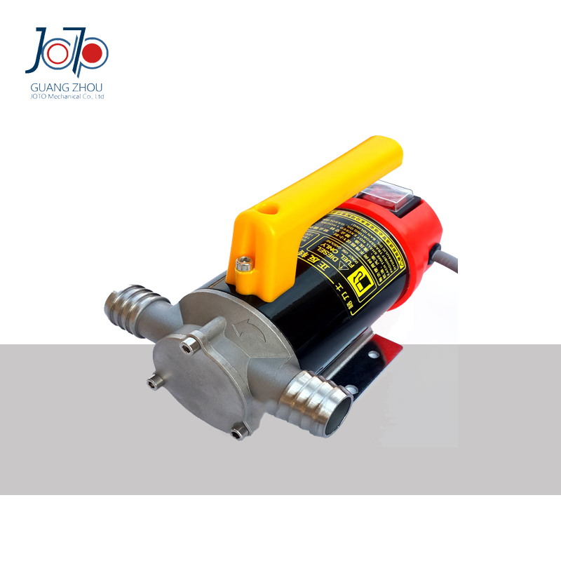 24V Dual-Purpose Inlet Electric Self-priming Diesel Refuel Oil Pump With Extended 6m Power Line For Constructional Machinery  12v dual purpose inlet electric self priming diesel oil refuel oil pump with standard 2m power line and 8m oil tube
