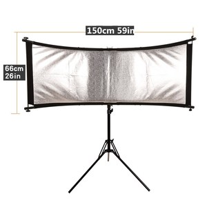 Image 4 - GSKAIWEN כפוף U הקליד אור רפלקטור/מפזר סט עם חצובה Eyelighter עבור צילום וידאו סטודיו Shot (כסף /זהב/לבן)