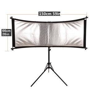 Image 4 - GSKAIWEN wygięty odbłyśnik/dyfuzor w kształcie litery U ze statywem Eyelighter na fotografia wideo Studio Shot (srebrny/złoty/biały)