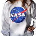 The new NASA LOGO Space Galaxy Star Aerospace round neck long - sleeved sweatshirt