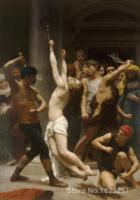 William Adolphe Bouguereau Painting Flagellation of Our Lord Jesus Christ Canvas art High quality Hand painted