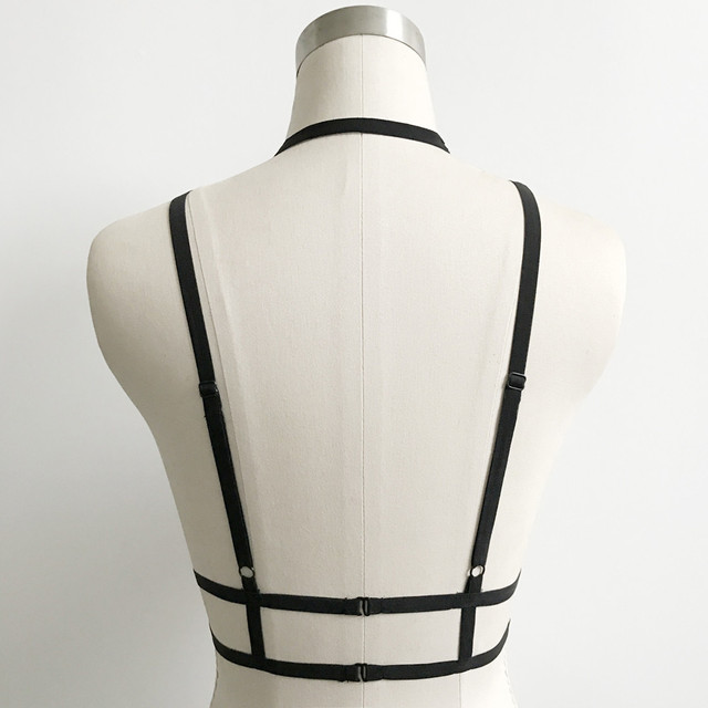 Fashion 2017 Alluring crop top Women Bra Elastic Cage Sexy Hollow Out vest bandage tops blusas tops crops for summer best sale#4