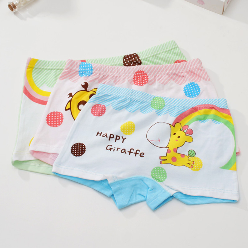 4Pcs/Lot Girls Underwear Children's Cotton Boxers Kids  Shorts Panites  Baby Girl Clothes for 2-10 years 6