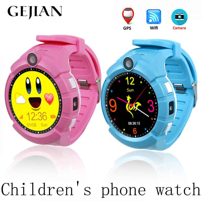 GEJIAN Children's Watch With Camera GPS WIFI Position Children's Watch SOS Anti-Lost LBS Monitoring Positioning Tracker Bracelet