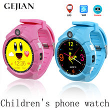 GEJIAN Children's Watch With Camera GPS WIFI Position Children's Watch SOS Anti-Lost LBS Monitoring Positioning Tracker Bracelet(China)