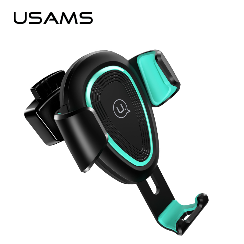 USAMS Gravity Bracket Car Phone Holder Flexible Universal Car Gravity Holder Support Mobile Phone Stand For iPhone Samsung