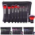 12 Pçs/set Função Completa Ferramenta de Pincéis de Maquiagem Profissional Definida Cosméticos Com Capa de Couro PU