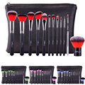 12Pcs/Set Full Function Professional Makeup Brushes Set Cosmetic Tool With PU Leather Case