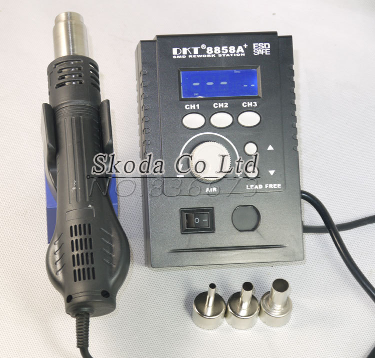 ФОТО Free shipping portable lead free SMD rework station LED Digital Rework Welder+3PCS BGA nozzles