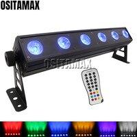 Equipamentos DJ OSITAMAX A 6x12 w 6IN1 RGBWA UV Arruela Holofote Remoto IR Luz Da Arruela Da Parede Luz de Inundação Efeito de Iluminação de palco     -