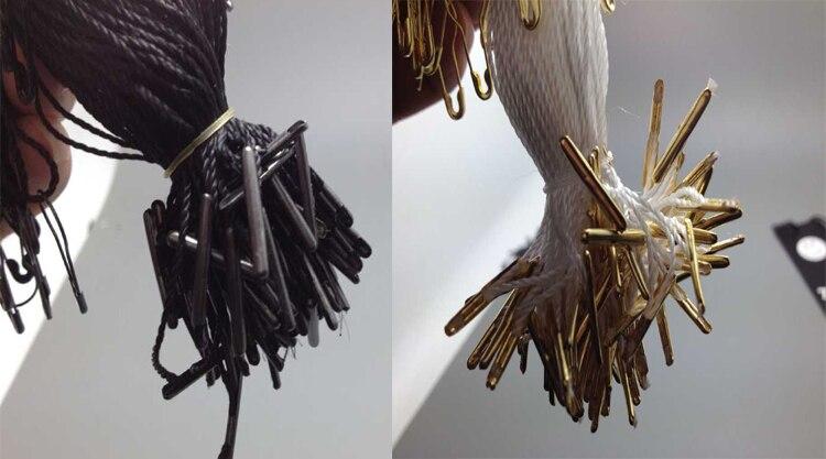 100 шт. бирка строка для бумажная бирка нейлоновой веревкой с медью pin