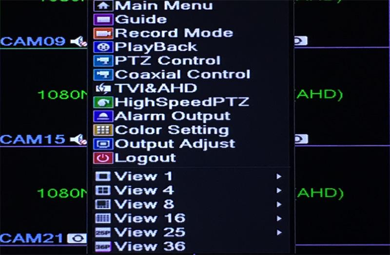 32CH Hybrid 5 in 1 NVR TVI CVI AHD CCTV DVR Operation Picture 02