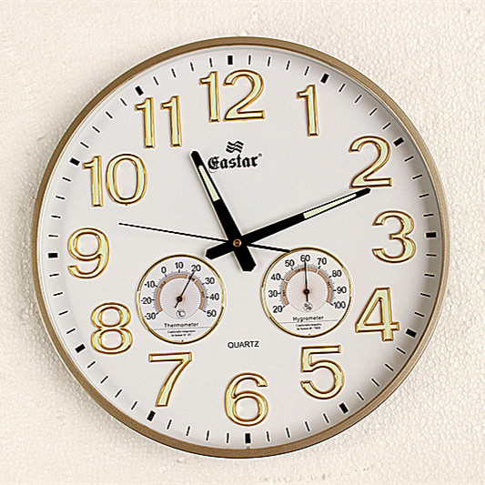 Dekoration Kunst Quarzuhren Orientalischen Stern Uhren Wohnzimmer Schlafzimmer Bro Mute Display Temperatur Und Luftfeuchtigkeit Luminou
