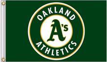 Oakland Athletics MLB Flag 3X5FT Flag Hot Products Sale 90×150 cm Outdoor Sports Flag Brass Metal Holes Custom Flag