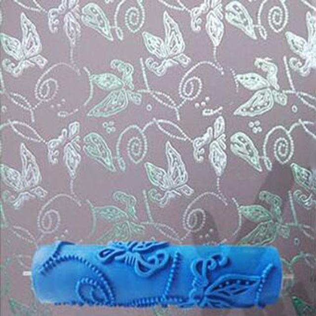 7inch 3D Rubber Wall Decorative Painting Roller, Wall Paint Roller Without  Handle Grip, Butterfly