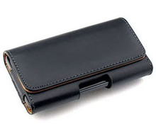 New Smooth Leather Pouch Belt Clip bag for nokia lumia 525 for htc desire x t328e