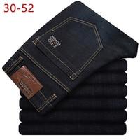 Plus Size 30 52 Mens Spring Autumn Stretch Black Denim Jeans Casual Bggy Patns High Quality Designer Jeans Men