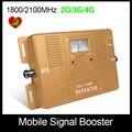 Especialmente para A Rússia!! 2g3g4g de banda dupla 1800/2100 mhz sinal de celular amplificador de sinal celular impulsionador repetidor Único Dispositivo