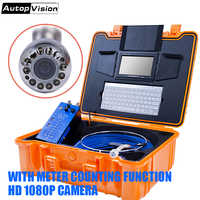 H1 New item 25mm camera with 20M/30M/40M/50M blue cable Video Endoscope 1080P Camera Waterproof Drain Pipe Sewer Inspection