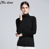 Mix Wind 2017 Autumn And Winter New Women S High Necked Sweater Women Long Sleeve Pure