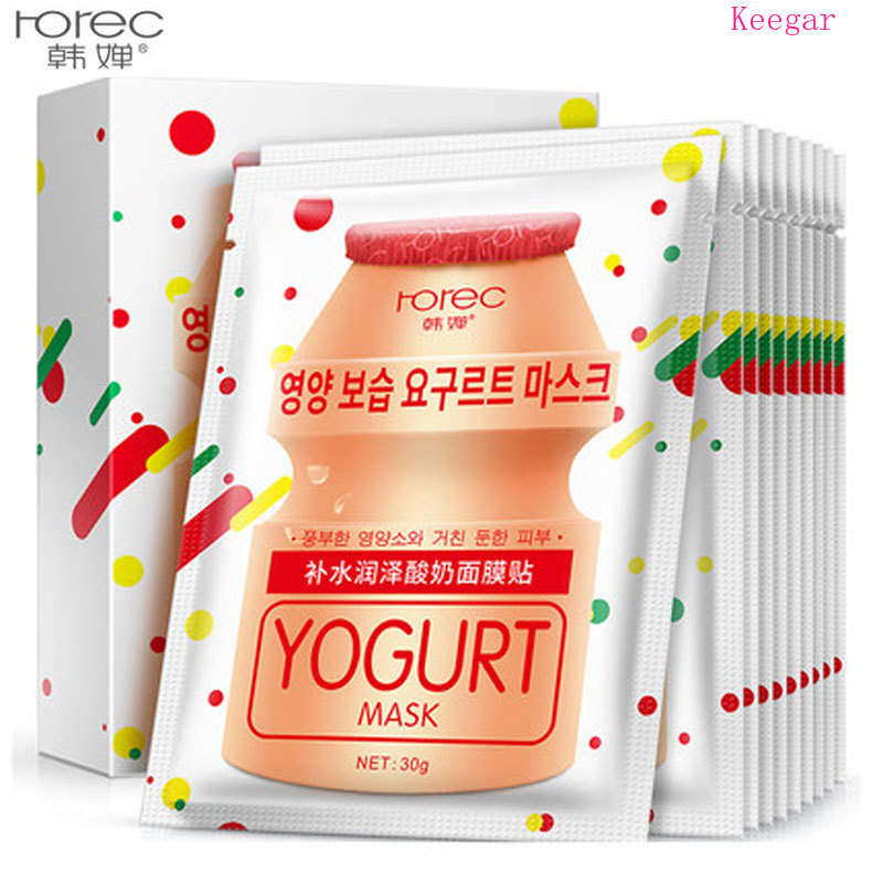 Rorec Yogurt Facial Mask Brightening Hydrating Anti-Aging Oil-control Whitening Moisturizing Face Facial Mask Skin Care