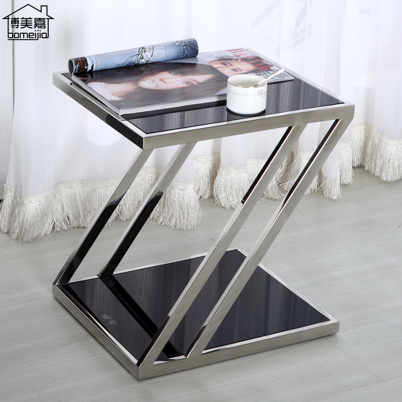 Tempered Gl Coffee Table Tables Sofa Bed Side Cabinet Minimalist Living Room Small Square Upscale Teasideend In From Furniture On