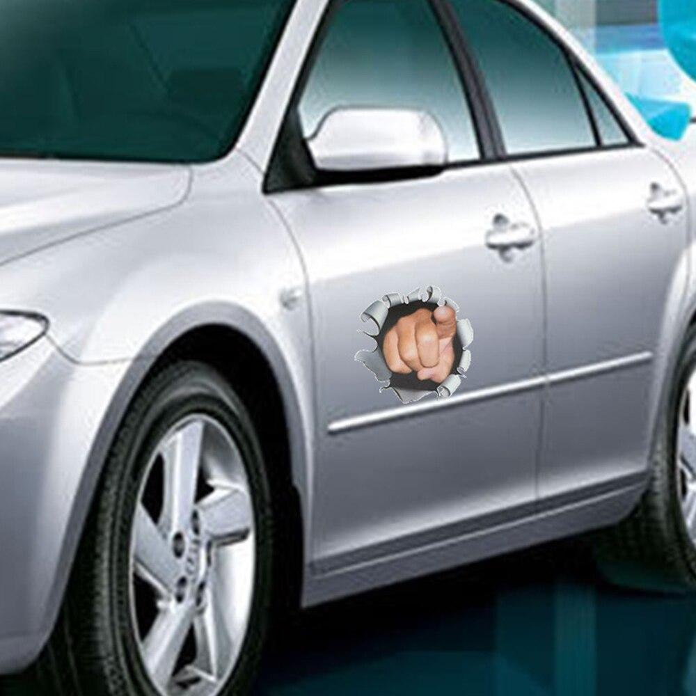 3d cz owiek finger naklejki samochodowe car styling funny dekoracji pokrowce akcesoria cartoon samochody naklejki zbiornika