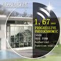 1.67 asp envío forma progresista photochromic lente bifocal lentes de prescripción óptica gafas de visión amplia protección súper delgada
