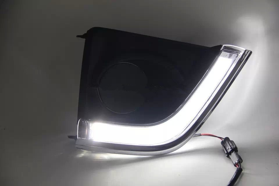 Free shipping ! for  2014 Toyota Corolla Daytime running lights,NEW Corolla DRL,Waterproof LED fog lights! автоинструменты new design autocom cdp 2014 2 3in1 led ds150