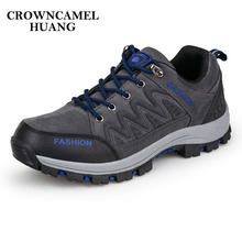 цены Climbing Boots Men Hiking Shoes Waterproof Trekking Boots Breathable Suede Leather Male Mountain Boots for Outdoor Hiking Shoes
