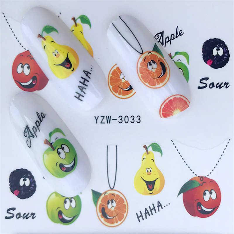 Fwc Musim Panas Buah Strawberry/Semangka/Sydney/Orange/Apple Desain Air Decals AR Transfer Stiker Dekorasi DIY