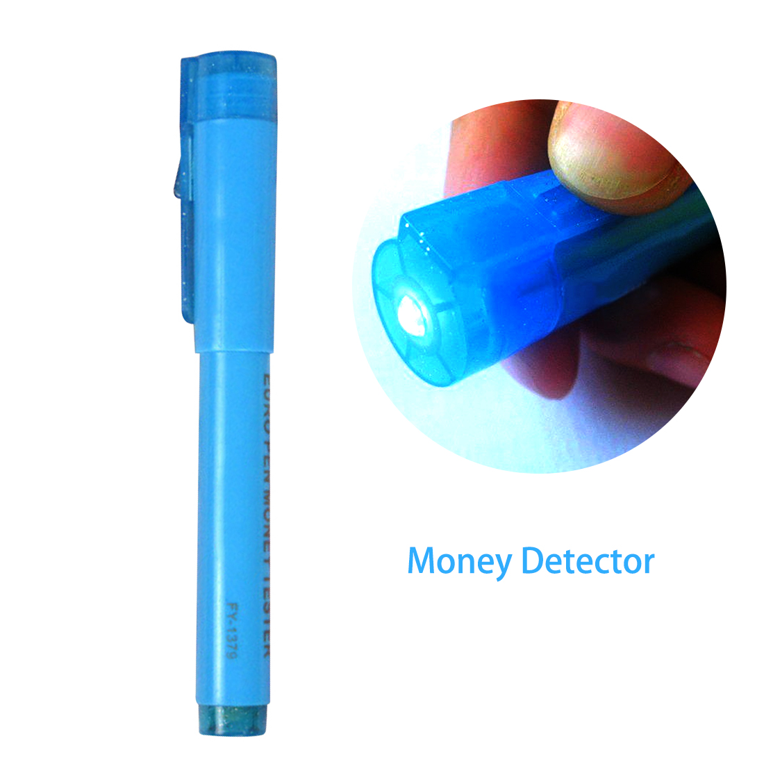 Detector de Notas de Luz Útil Falsificado Dinheiro Nota Banco Verificador Testador Marcador Caneta 1pc 2 In1 uv