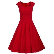 2017 Fashion Retro Dress Polka Dot Rockabilly Dress Summer Style Women Robe Vintage Short Sleeve Audrey Hepburn Dress 7 Colos