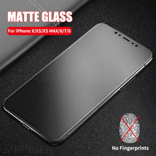 Matte Frosted Tempered Glass For iPhone X XS Max Full Cover Screen Protector For iPhone 8 7 6 6s Plus Matte Glass Film стоимость
