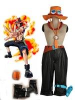 Одна часть Portgas D Ace косплей костюм брюки + ног сумка + + шляпа + ожерелье + armcover + бахилы