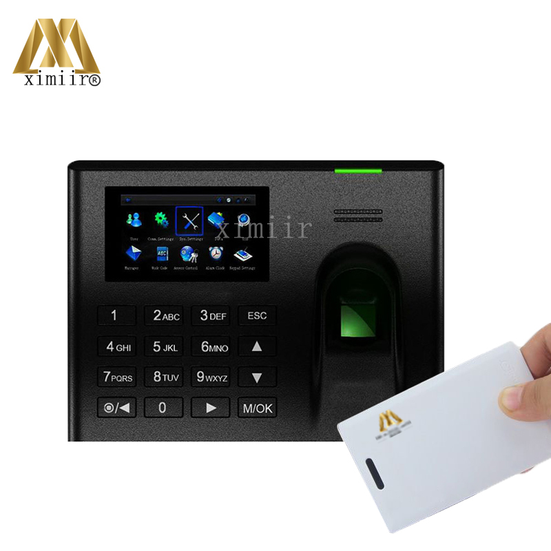 Biometric 3 Inch Touch Screen UA100 Linux System Fingerprint Time Attendance IC Card Time Recorder With TCP/IP Communication