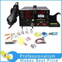 YIHUA 853D 110 В or220v SMD DC Питание фена паяльная паяльник станция с подарком для SMT сварка ремонт