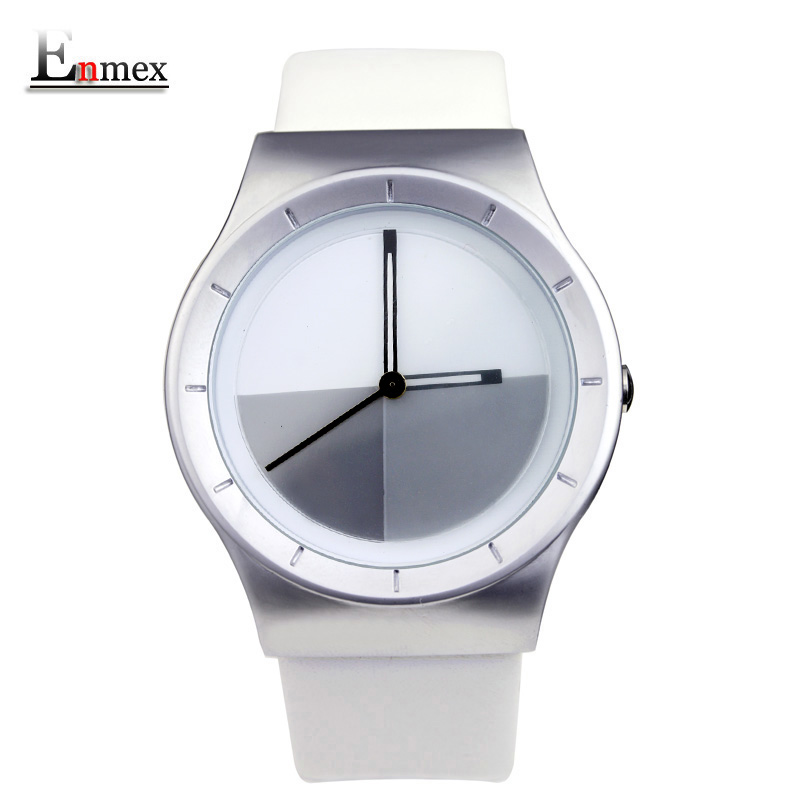 2017  gift Enmex special design wristwatch creative dial Changing patterns simple fashion for young peoples quartz watches 2017lady gift enmex design silicone strap creative changing patterns dail japanese style simple quietly elegant quartz watches