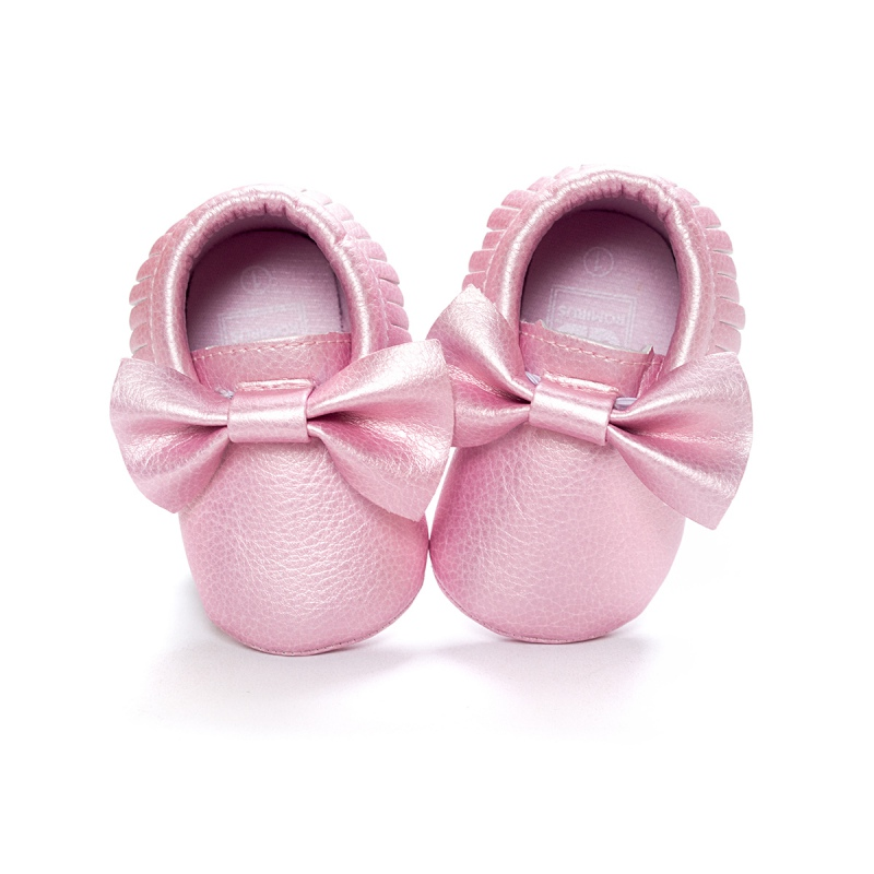 Unisex-Baby-Girls-Boy-0-18Months-Toddlers-Soft-Sole-Shoes-Tassel-PU-Leather-Crib-Bow-Shoe-First-Walkers-14-Colors-1